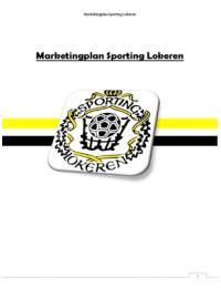 THESIS: Marketingplan Sporting Lokeren
