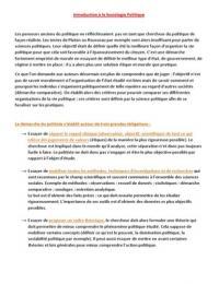 NOTES DE COURS: Cours Sociologie Politique