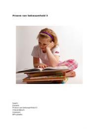CASE: Proeve van bekwaamheid 3: Dyslexie en Zelfvertrouwen