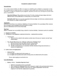 vicarious liability stuvia vicarious liability essay essay broken down for use in exams