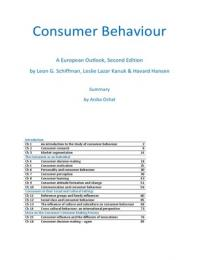ZUSAMMENFASSUNG: Summary Consumer Behaviour