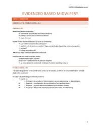 SAMENVATTING: Evidenced Based Midwifery (EMB)