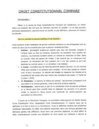 NOTES DE COURS: Cours L1 LEA Droit constitutionnel comparé