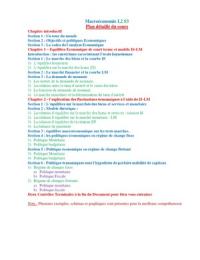 NOTES DE COURS: Macroéconomie L2 S3 (Cours complet)