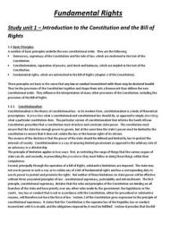 SUMMARY: Fundamental Rights