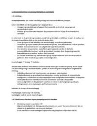 SUMMARY: Samenvatting Handboek Groepsdynamica van Jan Remmerswaal