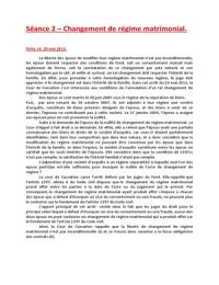 DISSERTATION: Changement de Régime Matrimonial Arret du 29 mai 2013