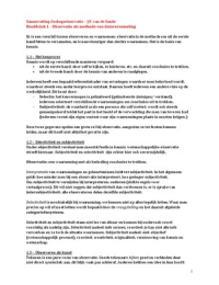 SUMMARY: Samenvatting Gedragsobservatie - Een Inleiding tot Systematisch Observeren