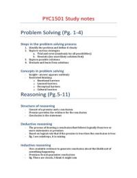 SUMMARY: PYC1501 Study Notes
