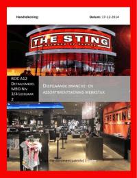 CASE: Diepgaande branche- en assortimentskennis Kleding / mode winkel (Cijfer 9,2)