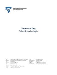 SAMENVATTING: Samenvatting - Praktische psychologie voor leren en onderwijzen - Alblas, Endeman & Heinstra