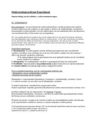 Exam: Onderzoekspracticum Experiment: Samenvatting syllabus & tentamenvragen