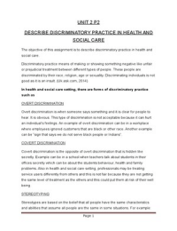 p7 unit 6 health and social care Essay about unit 6 m2 essay about unit 6 m2 1112 words jun 2nd, 2015 5 pages show more in this assignment i will be explaining how an outbreak of mrsa in a health and social care setting.