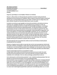 LECTURE NOTES: Alle hoorcolleges van Psychiatrie voor juristen