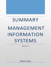 ZUSAMMENFASSUNG: Summary Management Information Systems