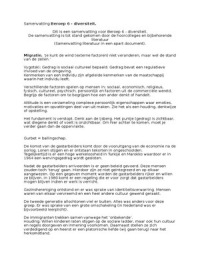 LECTURE NOTES: Beroep 6 - Diversiteit samenvatting colleges.