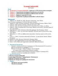 NOTES DE COURS: Economie Industrielle L3 S5
