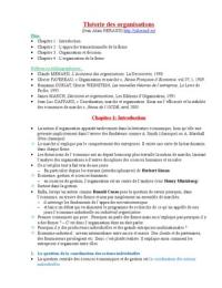 NOTES DE COURS: Théorie des organisations L3 S5