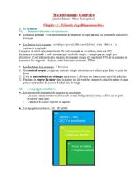 NOTES DE COURS: Macroéconomie Monétaire L3 S5
