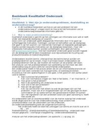 SAMENVATTING: Basisboek Kwalitatief Onderzoek