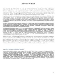 NOTES DE COURS: La formation de la culture juridique romaine