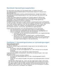 SUMMARY: Basisboek Opvoedingsvraagstukken - Malschaert