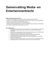 SUMMARY: Samenvatting Mediarecht