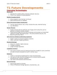 SUMMARY: A2 ICT - INFO 3 Revision Notes/Book Summary (AQA)
