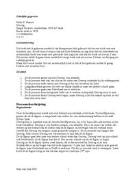 SUMMARY: Boekverslag / Samenvatting Oeroeg
