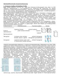 ZUSAMMENFASSUNG: TOP komplette Zusammenfassung Werkstoffmechanik