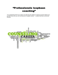 SUMMARY: Professionele Loopbaancoaching
