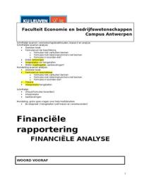 SAMENVATTING: Samenvatting Analyse (Van den Brande)