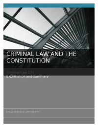 SUMMARY: Criminal Law and The Constitution