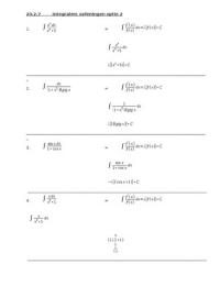 SUMMARY: Hoofdstuk 20 integralen optie 2 oefening 20.2.7