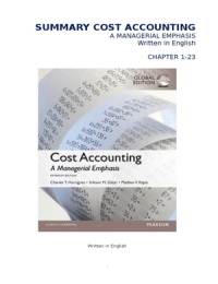 SAMENVATTING: Summary Cost Accounting Horngren / Samenvatting Cost Accounting Horngren