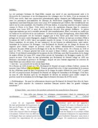 NOTES DE COURS: Histoire Saint-Malo au XVIIème