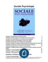 SAMENVATTING: Sociale psychologie, Aronson: H1 en 3 t/m 13