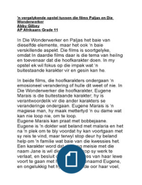 afrikaans essay on paljas A movie review of the afrikaans movies die wonderwerker and the movie paljas review of wonderwerker and paljas afrikaans essay r30,00 add to cart.