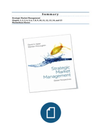 SAMENVATTING: Strategic Market Management Summary (1-15)