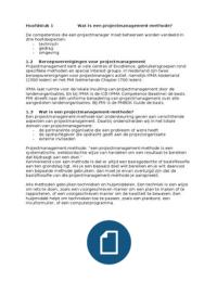 SUMMARY: Samenvatting Projectmanagement (PRM)