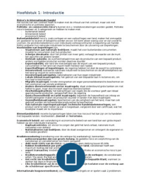SAMENVATTING: Introduction to international commercial and european law hele boek