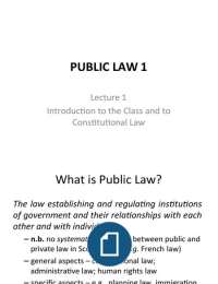 LECTURE NOTES: Public Law- FULL MODULE (Exam Revision)