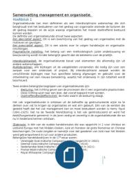 SAMENVATTING: Samenvatting management en organisatie/strategisch management