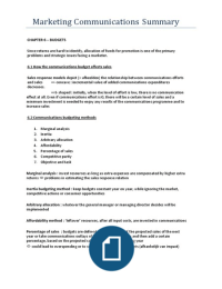 SAMENVATTING: Marketing Communications: An European Perspective : Chapters 6,11,13 and 16