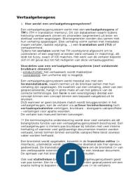 SAMENVATTING: Inleiding tot de vertaaltechnologie: samenvatting theorie