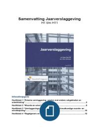 SAMENVATTING: Externe Verslaggeving 4  (Jaarverslaggeving H1 t/m H11)
