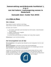 SAMENVATTING: Samenvatting: de Geo, Leefomgeving wonen in Nederland