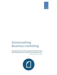 SAMENVATTING: Business Marketing H1 tot H12