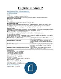 SAMENVATTING: Engels module 2