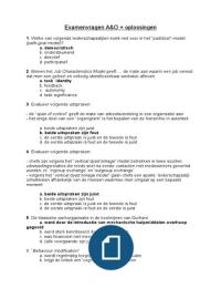 Examen: Examenvragen A&O   oplossingen